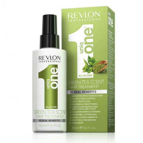 Купить Revlon Professional Спрей-маска для ухода за волосами с ароматом зеленого чая 150 мл (Revlon Professional, UniqOne)