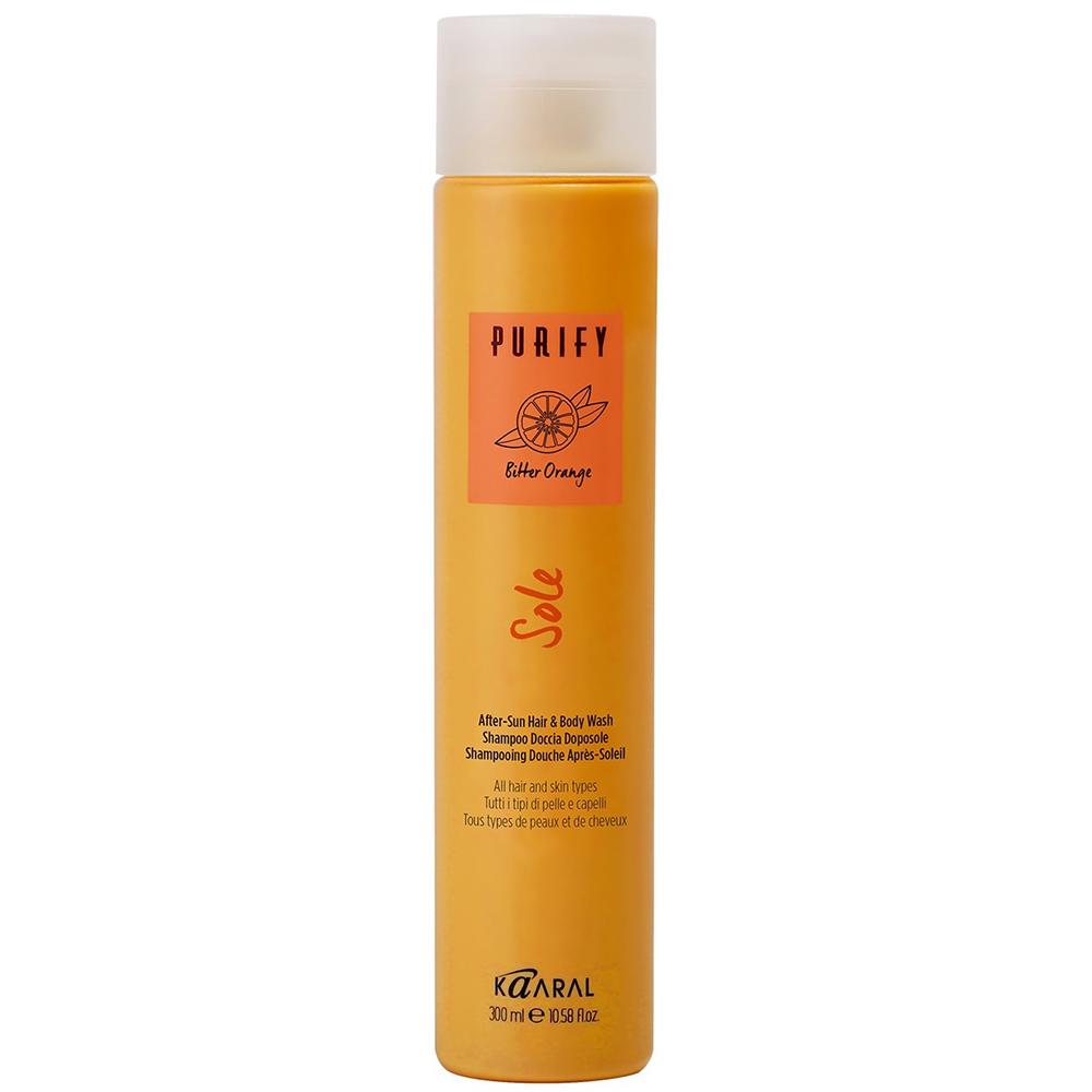 Купить Kaaral Шампунь и гель для душа 2 в 1 после загарасосмягчающим и успокаивающим эффектом After-Sun Hair & Body Wash, 300мл (Kaaral, Purify)