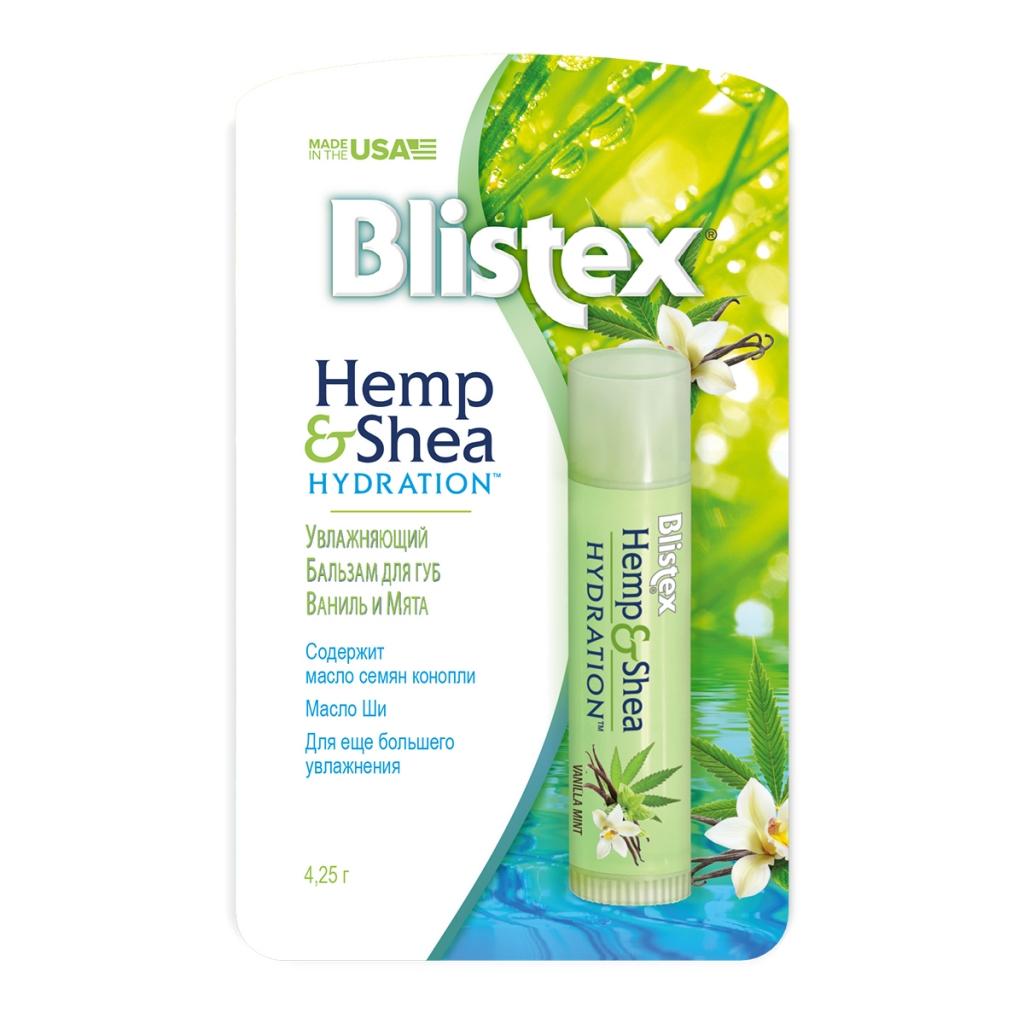 Купить Blistex Бальзам для губ Hemp&Shea Ваниль с мятой, 4, 25 г (Blistex, Уход за губами)