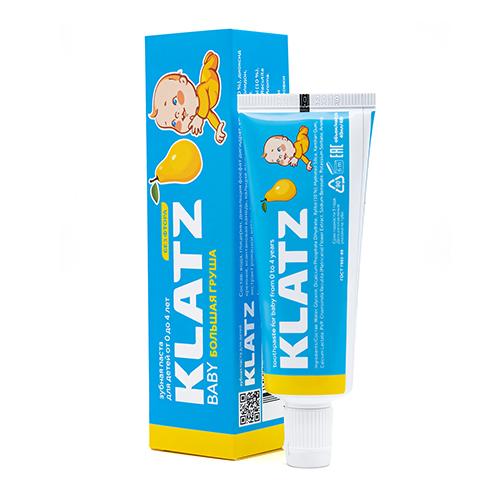 Купить Klatz Зубная паста для детей Большая груша без фтора, 48 мл (Klatz, Baby)