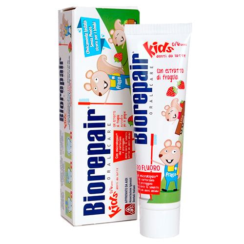 Купить Biorepair Зубная паста Kids детская с экстрактом земляники, 50 мл (Biorepair, Детская гамма)