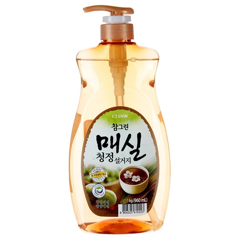 Купить CJ Lion Средство для мытья посуды, овощей и фруктов Chamgreen Японский абрикос, 960 мл (CJ Lion, Для посуды)
