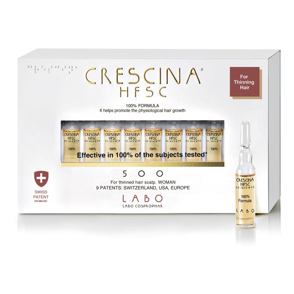 Crescina Лосьон для женщин Hfsc 100% 500 для стимуляции роста волос, 20*3, 5 мл (Crescina, Crescina 500)  - Купить