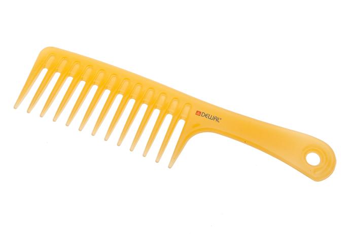 Купить Dewal Pro Гребень моделирующий, с ручкой, антистатик, желтый 24, 5 см (Dewal Pro, )