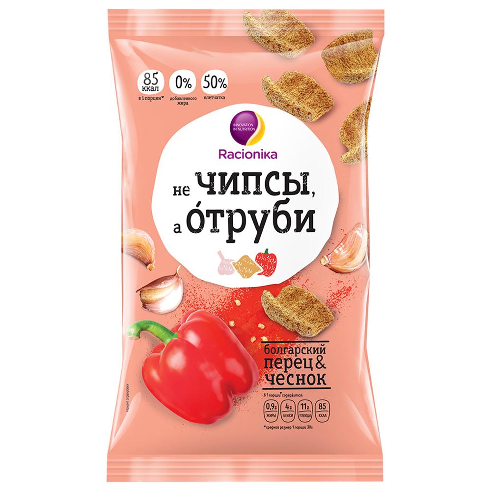 Racionika Отруби хрустящие, болгарский перец и чеснок, 90 г (Racionika, )
