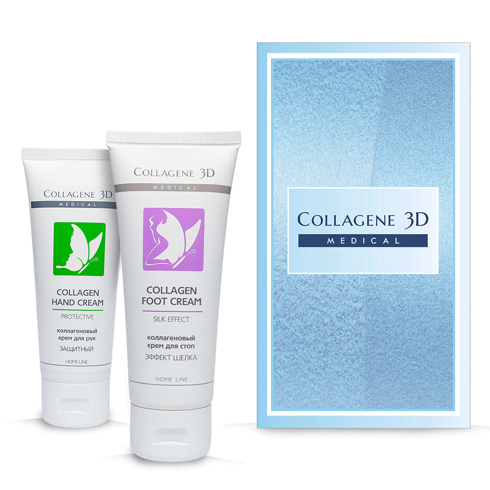 Купить Collagene 3D Подарочный набор Нежная кожа (Крем для рук Защитный, 75 мл + Крем для стоп SIlk Effect, 75 мл) (Collagene 3D, Подарочные наборы)