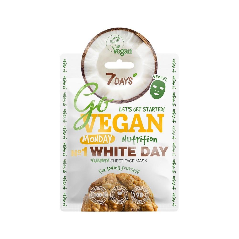 Купить 7 Days Тканевая yummy маска для лица Monday White Day, 25 г (7 Days, Go Vegan)