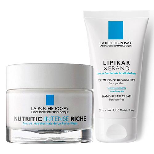 La Roche-Posay Набор для очень сухой кожи (Питательный крем Nutritic Intense Riche, 50 мл + Крем восстанавливающий для сухой кожи рук, 50 мл) (La Roche-Posay, Nutritic)  - Купить