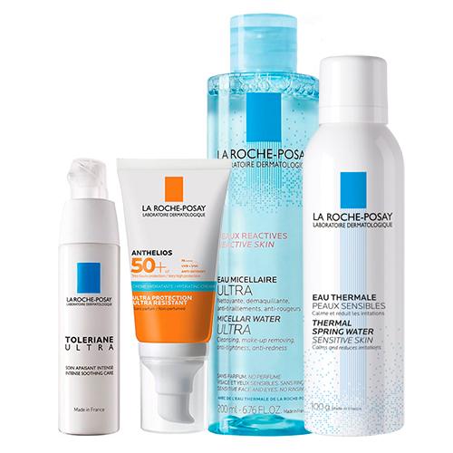 La Roche-Posay Набор для чувствительной кожи (Успокаивающий уход, 40 мл + Увлажняющий крем SPF50+, 50 Термальная вода, 150 Мицеллярная 200 мл) (La Roche-Posay, Anthelios)
