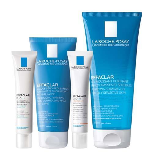 Купить La Roche-Posay Интенсивный корректирующий уход (Корректирующий крем-гель, 40 мл + Тонирующий крем-гель, 40 мл + Гель очищающий, 200 мл + Очищающая маска, 100 мл) (La Roche-Posay, Effaclar)
