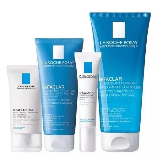 Купить La Roche-Posay Матирующий уход (Матирующая эмульсия, 40 мл + Корректирующее средство Effaclar A.I., 15 мл + Гель очищающий, 200 мл + Очищающая маска, 100 мл) (La Roche-Posay, Effaclar)