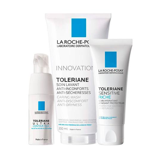 Купить La Roche-Posay Набор Toleriane (Насыщенный крем Sensitive Riche, 40 мл + Очищающий гель-уход для умывания, 200 мл + Уход для кожи вокруг глаз Ultra, 20 мл) (La Roche-Posay, Toleriane)