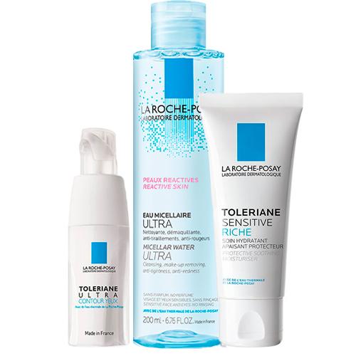 Купить La Roche-Posay Набор Toleriane (Насыщенный крем Sensitive Riche, 40 мл + Мицеллярная вода Ultra, 200 мл + Уход для кожи вокруг глаз Ultra, 20 мл) (La Roche-Posay, Toleriane)