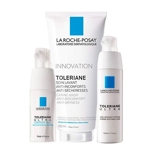 Купить La Roche-Posay Набор Toleriane Ultra (Средство успокаивающего действия Ultra, 40 мл + Очищающий гель-уход для умывания, 200 мл + Уход для кожи глаз Ultra, 20 мл) (La Roche-Posay, Toleriane)