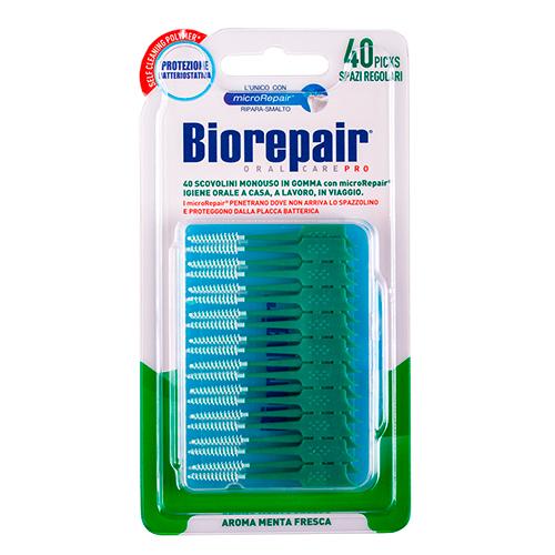 Купить Biorepair Одноразовые мягкие стандартные зубные ершики Scovolini Monouso in Gomma Regolari, 40 шт (Biorepair, Уход за зубами)