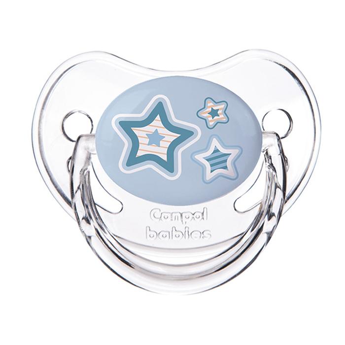 Купить Canpol Пустышка анатомическая силиконовая, от 6 до 18 месяцев, голубой, 1 шт. (Canpol, Newborn Baby)