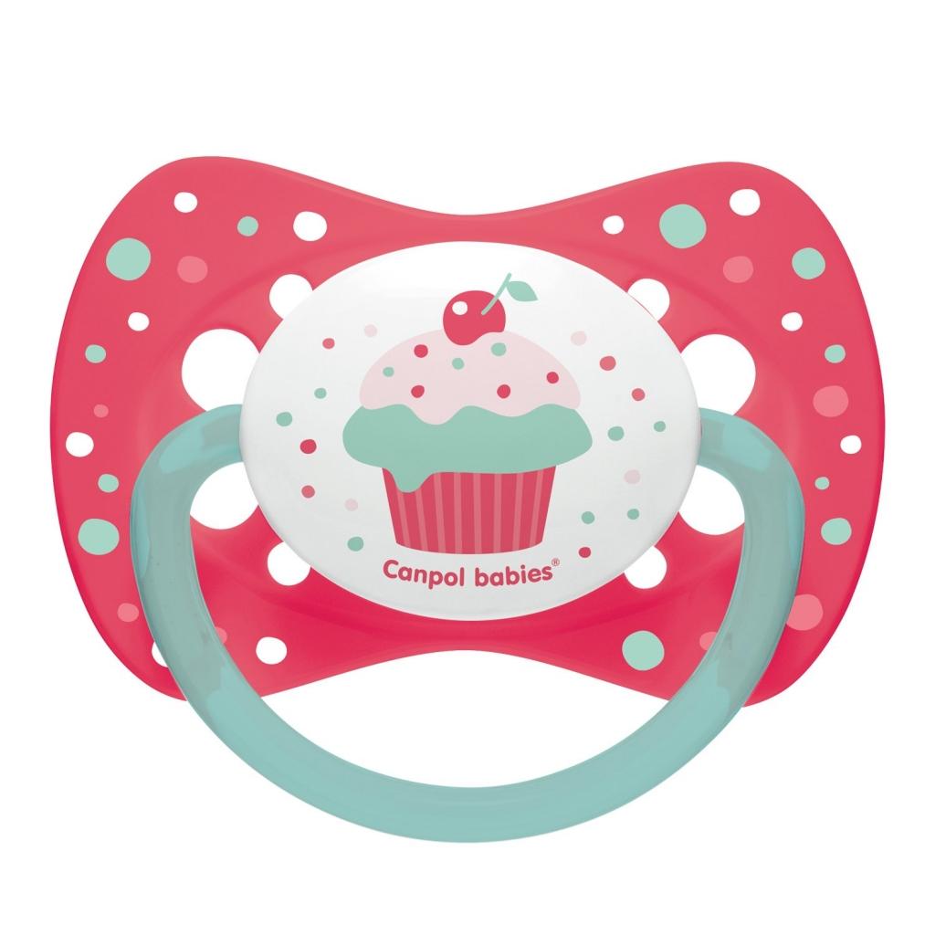 Купить Canpol Пустышка симметричная силиконовая от 0 до 6 месяцев, розовая, 1 шт. (Canpol, Cupcake)