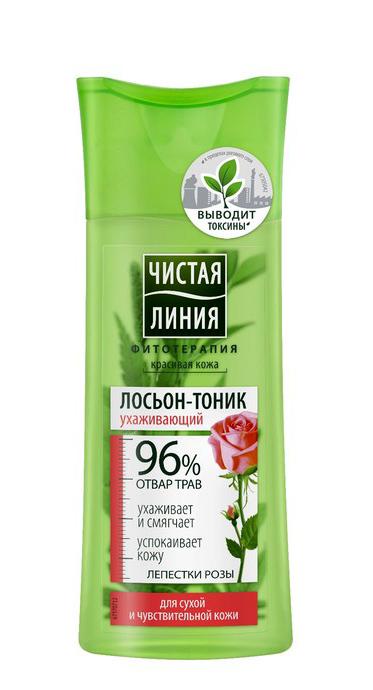 Купить Чистая Линия Лосьон-тоник для сухой и чувствительной кожи Лепестки Роз , 100 мл (Чистая Линия, Уход за лицом)