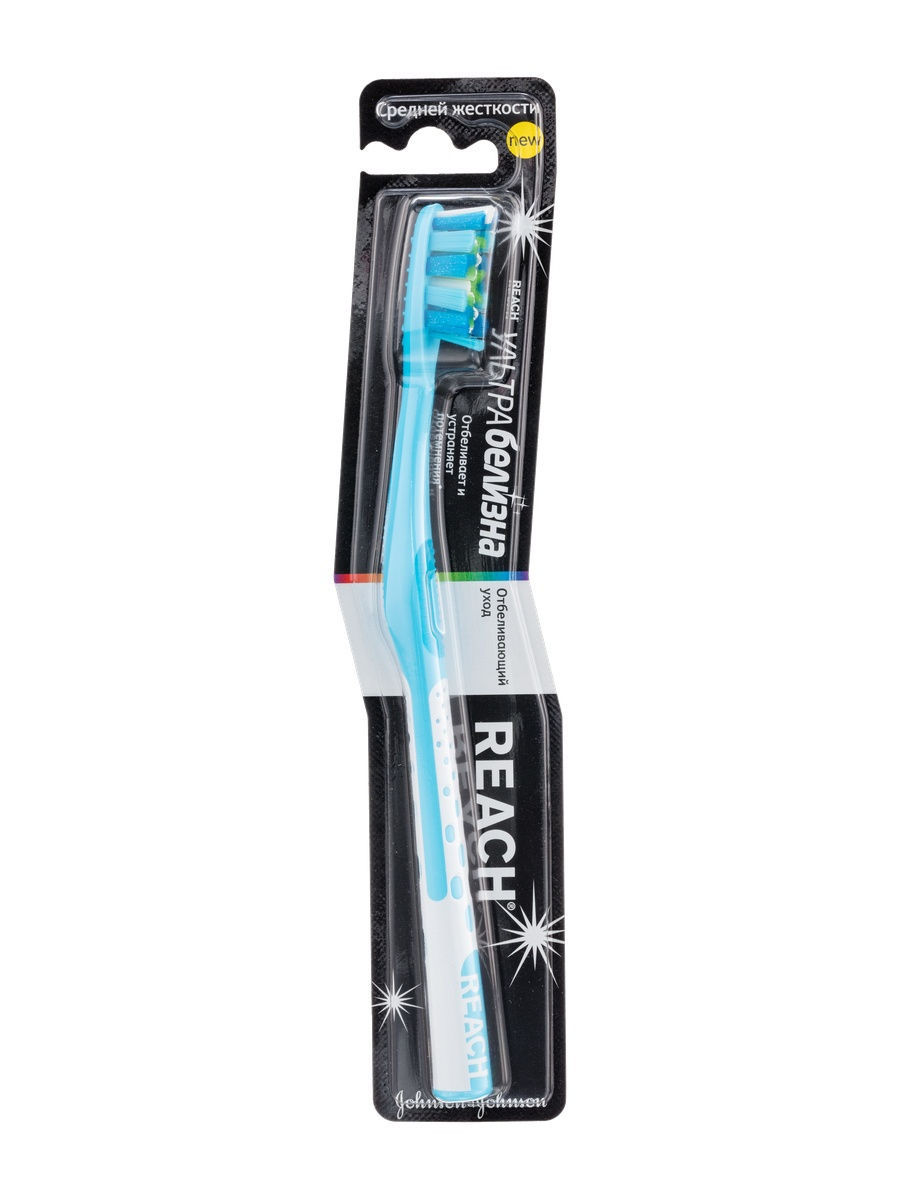 Купить Reach Зубная щетка средняя «Ультра белизна», 1 шт. (Reach, Зубные щетки)