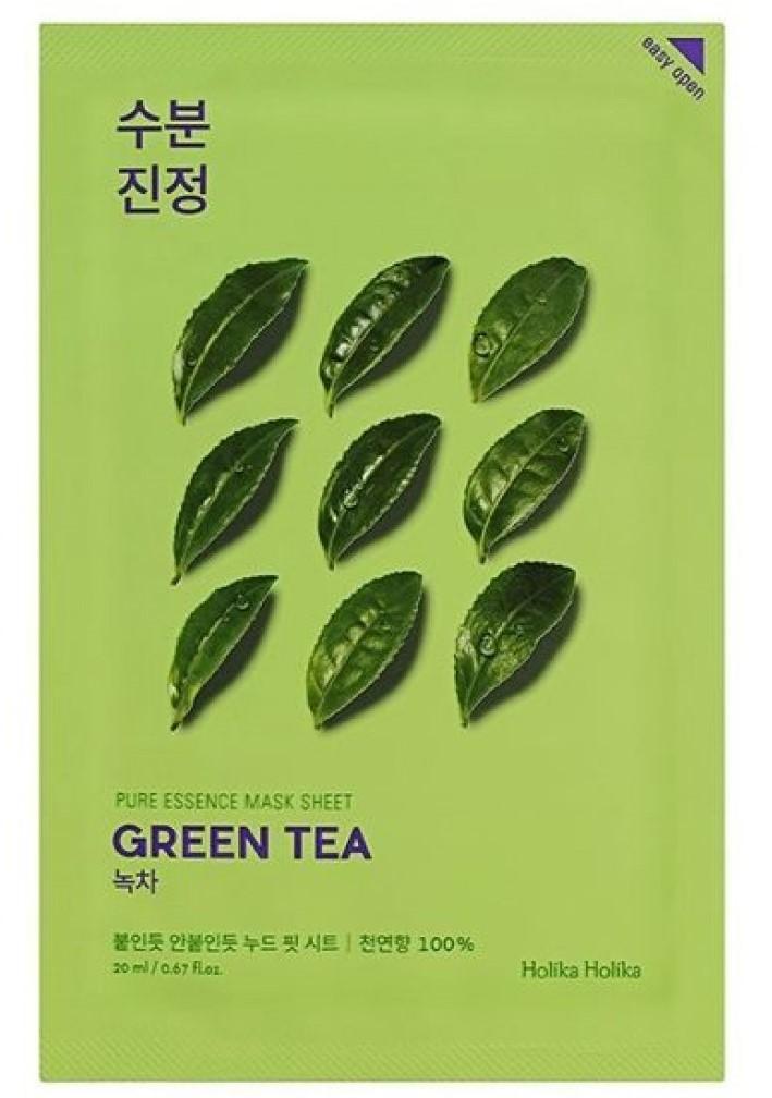 Купить Holika Holika Противовоспалительная тканевая маска Зеленый чай , 23 мл (Holika Holika, Pure Essence)