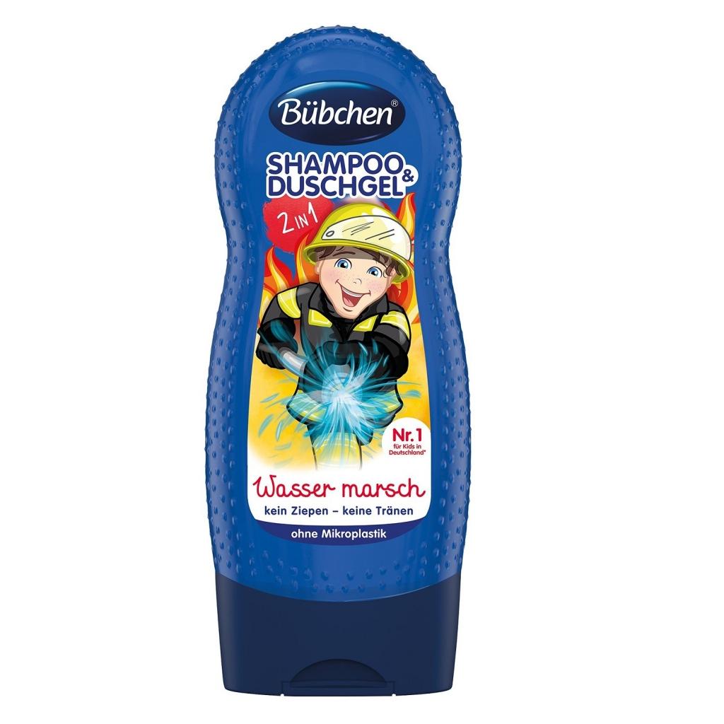 Купить Bubchen Детский шампунь и гель для душа Храбрый пожарный , 230 мл (Bubchen, Купание и умывание)