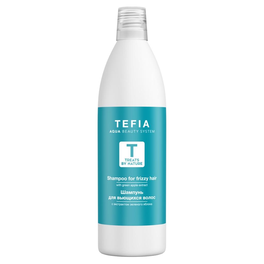 Купить Tefia Шампунь для вьющихся волос с экстрактом зеленого яблока, 1000 мл (Tefia, Treats by Nature)
