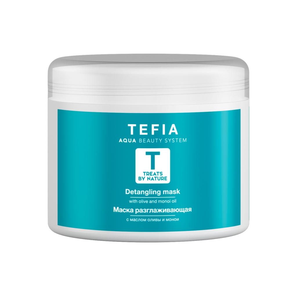 Tefia Маска разглаживающая с маслом оливы и монои, 500 мл (Tefia, Treats by Nature) недорого