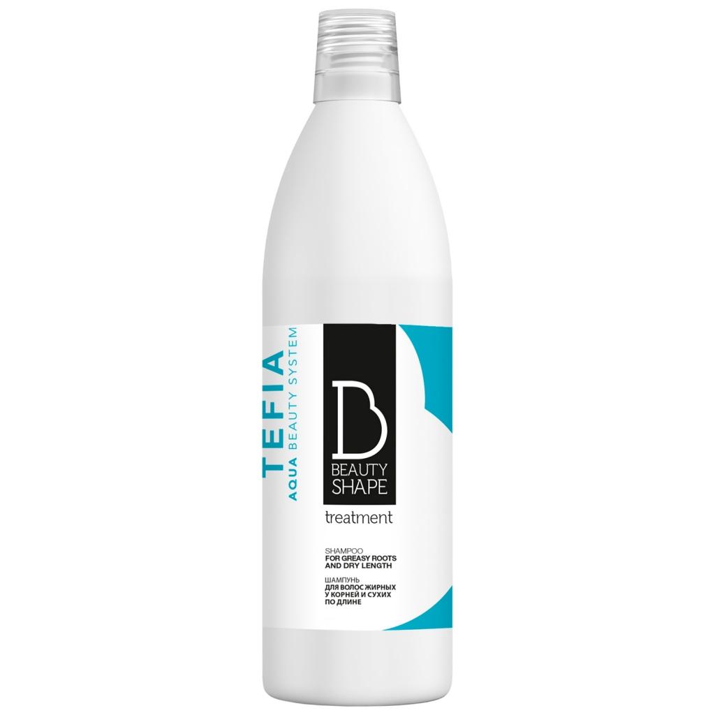 Купить Tefia Шампунь для волос жирных у корней и сухих по длине, 1000 мл (Tefia, Beauty Shape)
