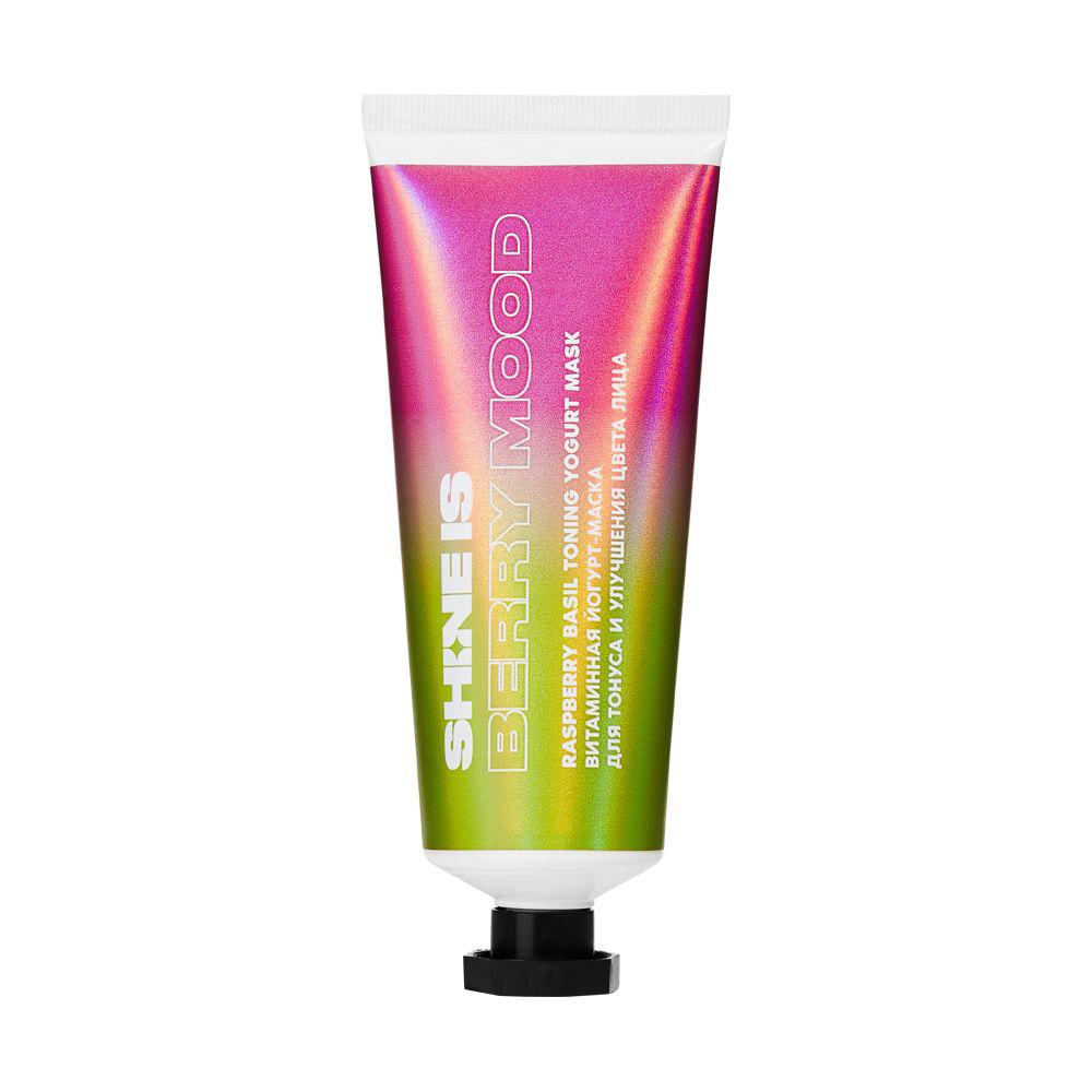 SHINEIS Витаминная йогурт-маска для тонуса и улучшения цвета лица Raspberry Basil Toning Yogurt Mask, 75 мл (SHINEIS, )