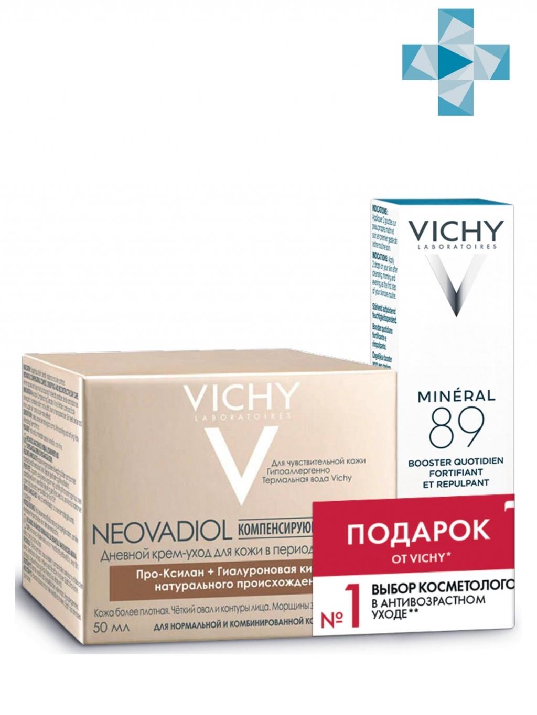Купить Vichy Набор Neovadiol Компенсирующий комплекс для нормальной и комбинированной кожи 50 мл + Ежедневный гель-сыворотка Mineral 89, 10 мл (Vichy, Neovadiol) (Vichy, Neovadiol)