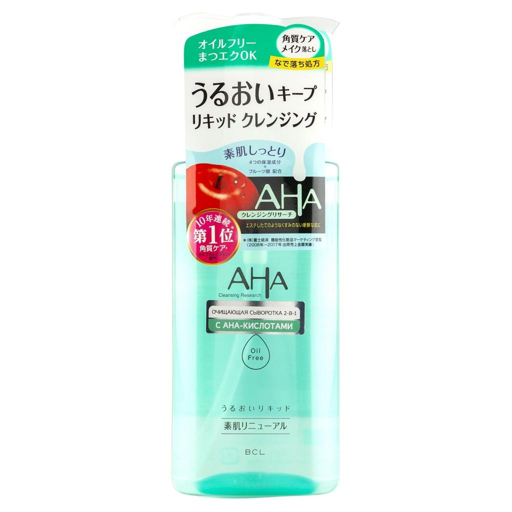 Aha AHA Очищающая сыворотка для снятия макияжа 2-в-1 с фруктовыми кислотами для норм.и комб. кожи 200мл (Aha, Basic)