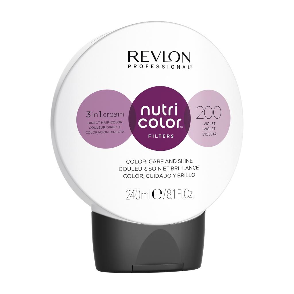 Купить Revlon Professional Прямой краситель без аммиака Nutri Color Filters, 240 мл - 200 Фиолетовый (Revlon Professional, Окрашивание)