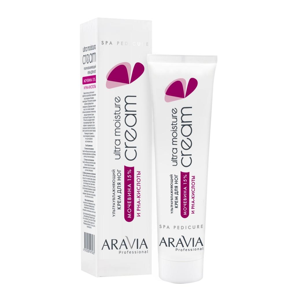 Купить Aravia Professional Крем ультраувлажняющий для ног с мочевиной 15% и PHA-кислотами Ultra Moisture Cream, 100 мл (Aravia Professional, SPA-педикюр)