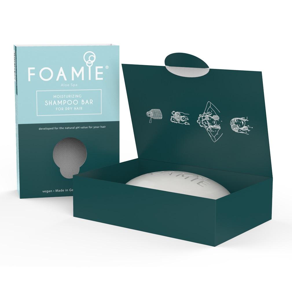 Купить Foamie Твердый шампунь Aloe Spa для сухих волос, 108 г (Foamie, Шампуни)