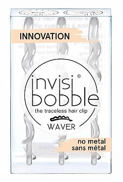 Купить Invisibobble Заколка для волос Crystal Clear one, 3 шт (Invisibobble, Waver)