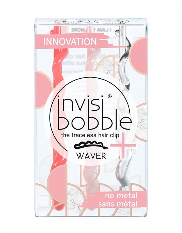 Купить Invisibobble Заколка для волос I Lava You More, с подвесом, 3 шт (Invisibobble, Waver)
