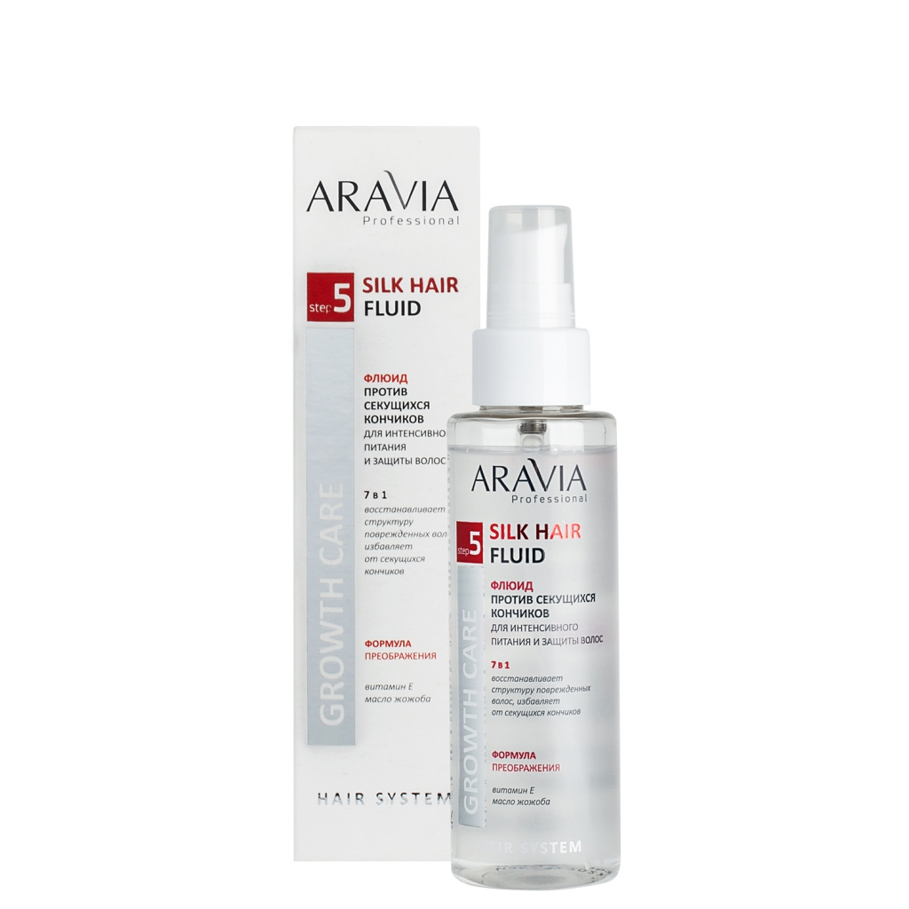 Купить Aravia Professional Флюид против секущихся кончиков для интенсивного питания и защиты волос Silk Hair Fluid, 110 мл (Aravia Professional)