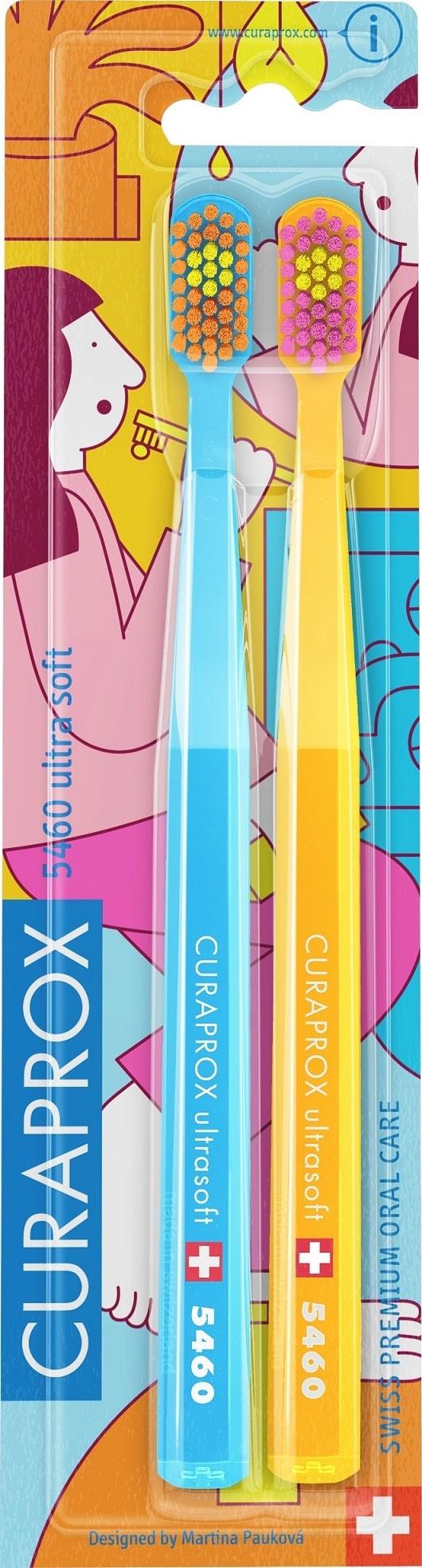 Curaprox Набор зубных щеток CS Duo Bathroom Ultra Soft, 2 шт (Curaprox, Мануальные зубные щетки)