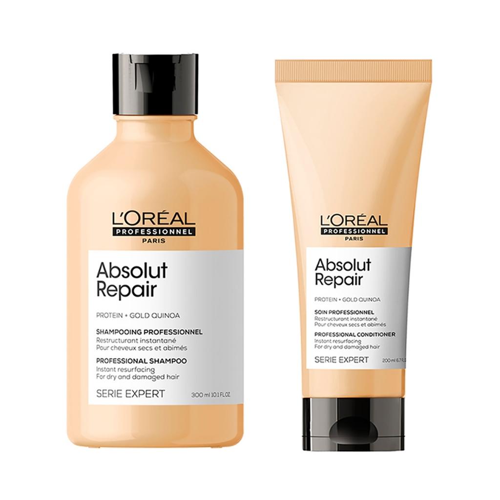 Купить L'Oreal Professionnel Набор для поврежденных волос Absolut Repair (Шампунь, 300 мл + Кондиционер, 200 мл) (L'Oreal Professionnel, Уход за волосами)