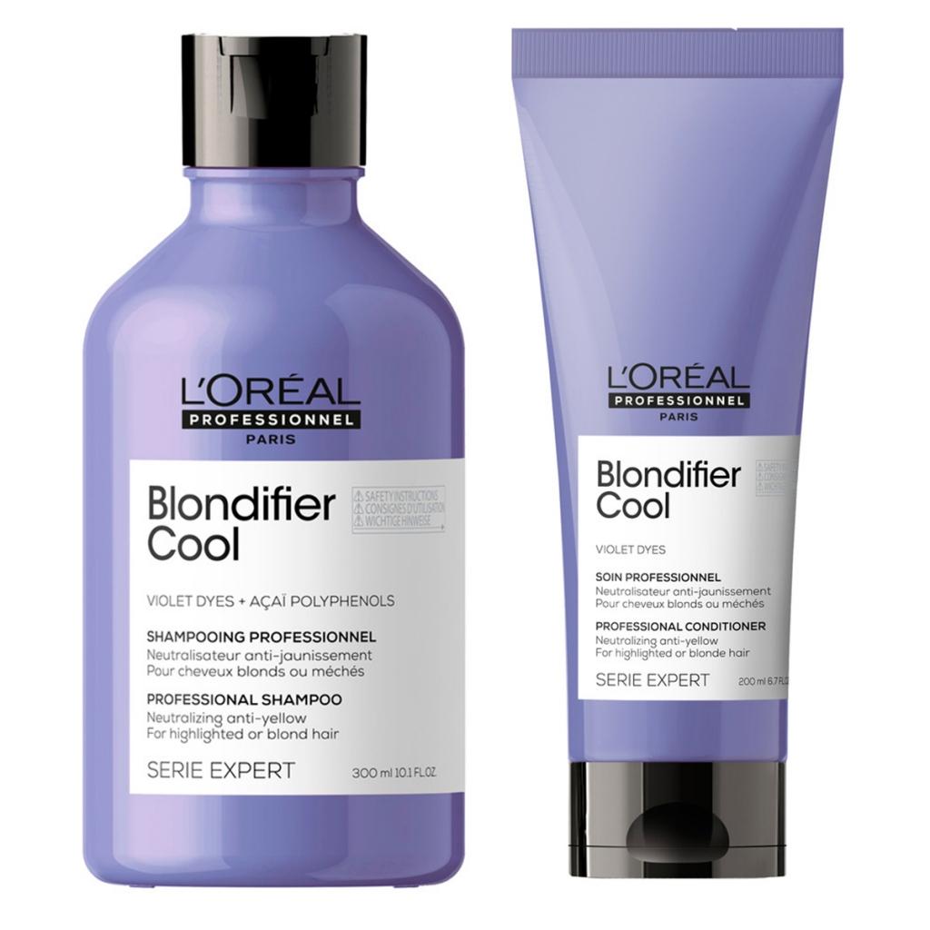 Купить L'Oreal Professionnel Набор Blondifier для нейтрализации желтизны (Шампунь Cool, 300 мл + Кондиционер Cool, 200 мл) (L'Oreal Professionnel, Уход за волосами)