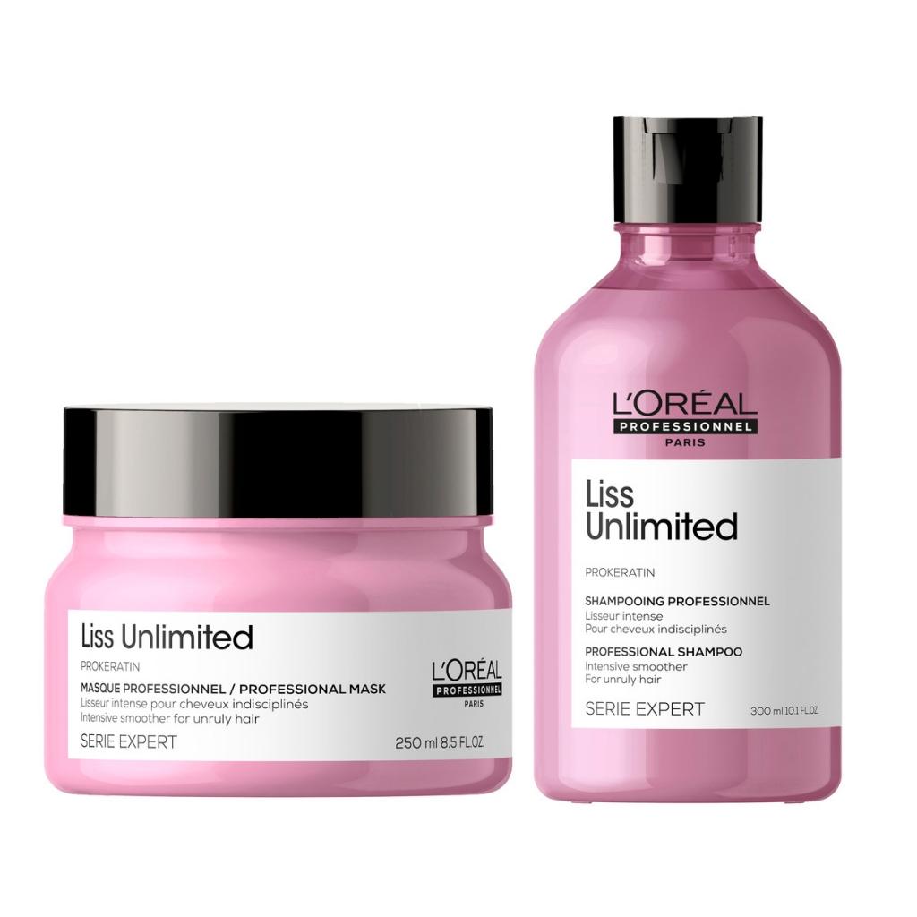 Купить L'Oreal Professionnel Набор Liss Unlimited для непослушных волос (Шампунь, 300 мл + Маска, 250 мл) (L'Oreal Professionnel, Уход за волосами)