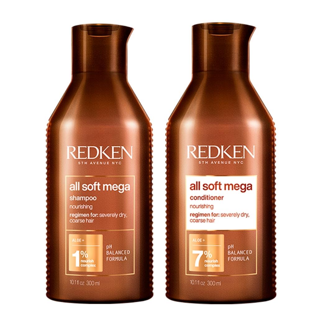 Купить Redken Набор All Soft Mega для очень сухих и ломких волос (Шампунь, 300 мл + Кондиционер, 300 мл) (Redken, Уход за волосами)