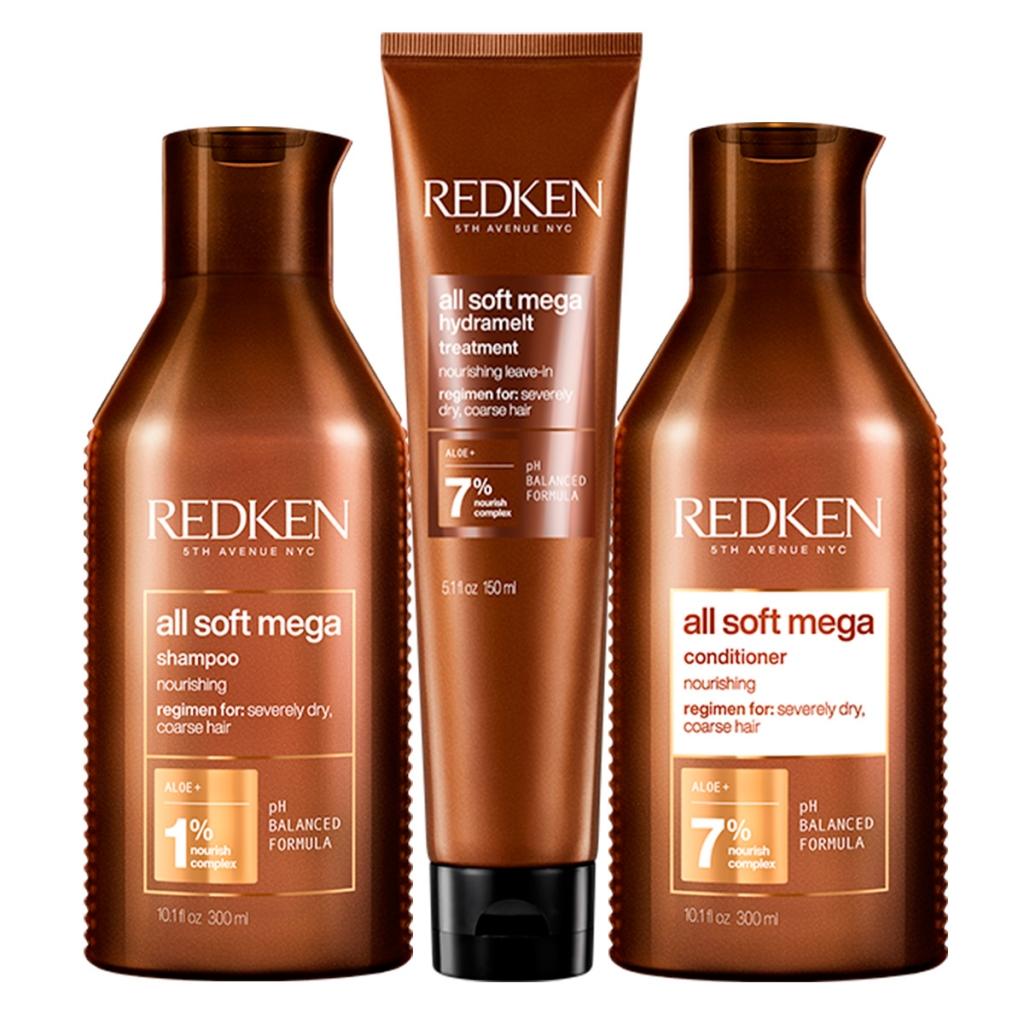 Купить Redken Набор All Soft Mega для очень сухих и ломких волос (Шампунь, 300 мл + Кондиционер, 300 мл + Несмываемый уход, 150 мл) (Redken, Уход за волосами)