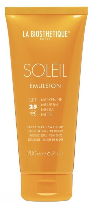 Купить La Biosthetique Солнцезащитная эмульсия для лица и тела Emulsion Solaire SPF 25, 200 мл (La Biosthetique, Methode Soleil)