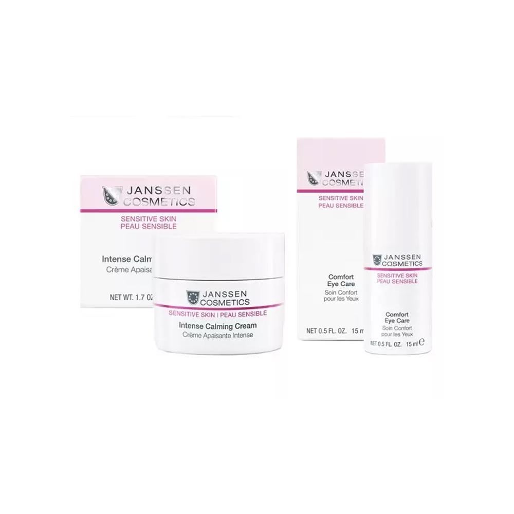 Купить Janssen Набор Интенсивная защита и питание чувствительной кожи : крем 50 мл + крем для кожи вокруг глаз 15 мл (Janssen, Sensitive Skin)