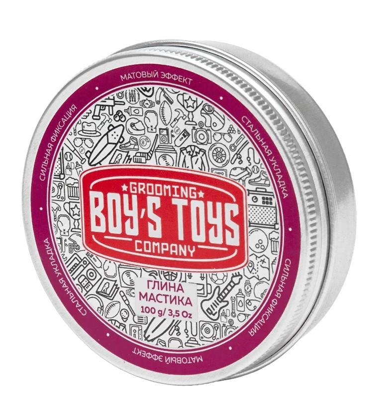 Купить Boys Toys Глина для укладки волос высокой фиксации с низким уровнем блеска Strong Hold Clay Putty, 100 мл (Boys Toys, Стайлинг)