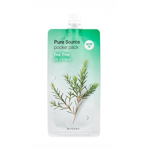 Купить Missha Увлажняющая маска для лица Pure Source Pocket Pack Tea Tree, 10 мл (Missha, Уход за лицом)