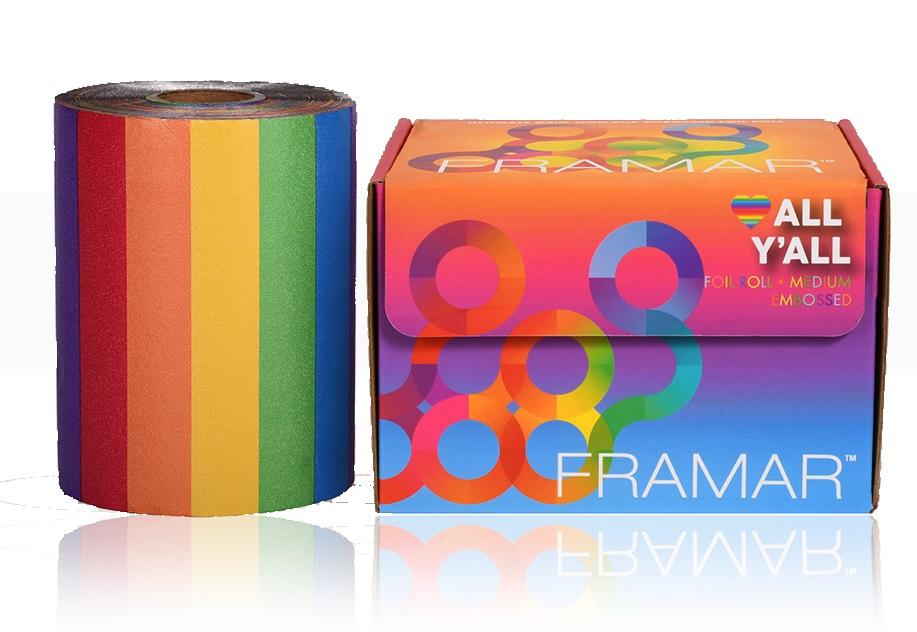 Купить Framar Фольга в рулоне с тиснением «Цвета радуги», 98 м (Framar, )