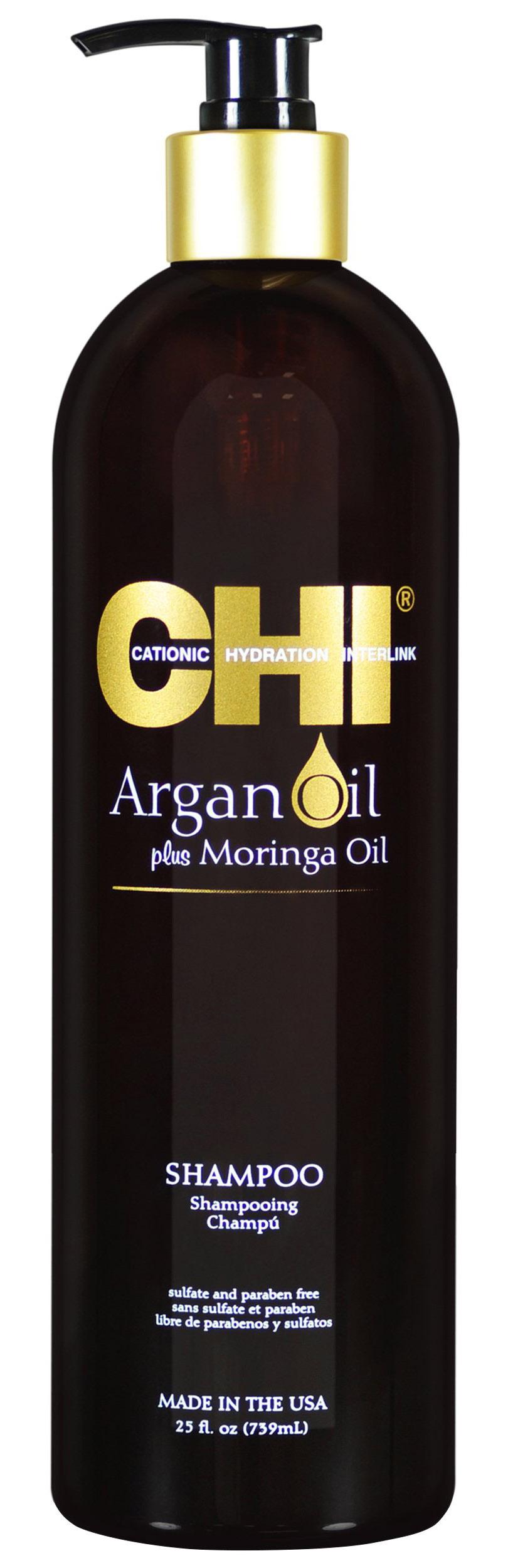 Купить Chi Шампунь с маслом арганы и маслом моринга, 739 мл (Chi, Argan Oil)
