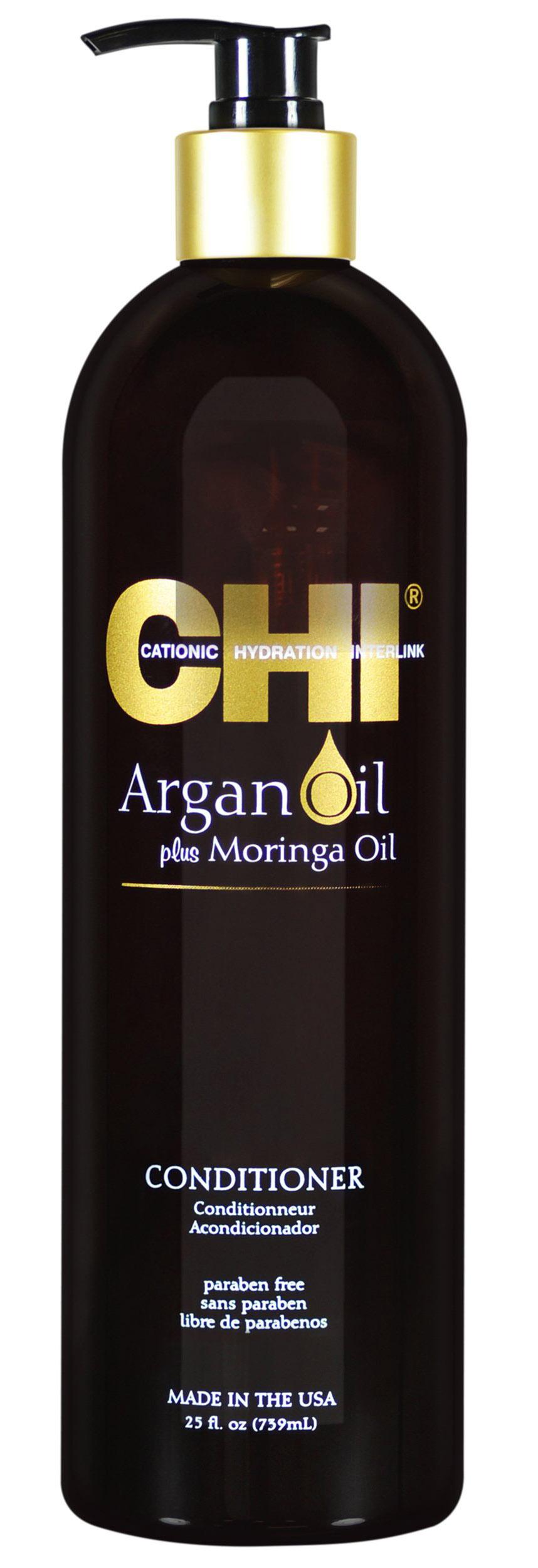 Купить Chi Кондиционер с маслом арганы и маслом моринга, 739 мл (Chi, Argan Oil)